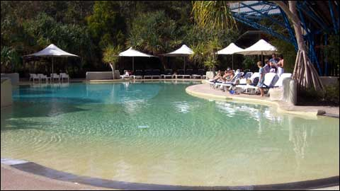 Hotel review kingfisher bay resort fraser island for Kingfisher swimming pool prices